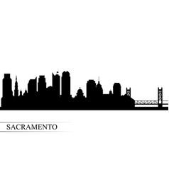 sacramento city skyline silhouette background vector image