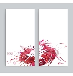 Two banners with abstract eclectic images Bright vector image