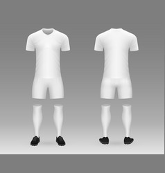 3d realistic template soccer kit vector