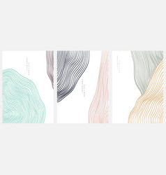 Abstract art background with line pattern art vector