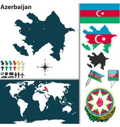 Azerbaijan world vector