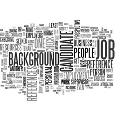 background checks and balances text word cloud vector image