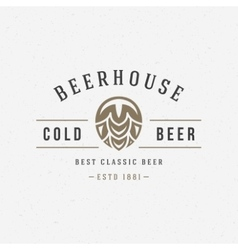 Beer hop logo or badge design element vector image