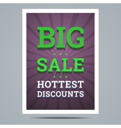 Big sale poster with stars shape and background vector