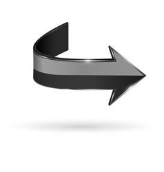 black arrow web 3d shiny icon vector image