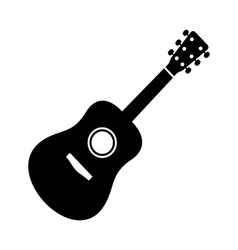 Black guitar icon vector image