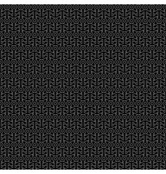 Black seamless pattern with anchors vector