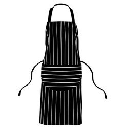 black striped apron vector image