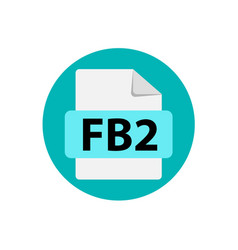 Blue icon fb2 file format extensions icon vector