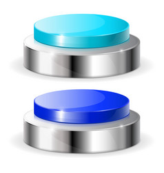blue push buttons vector image