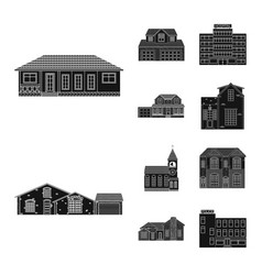 Building and front icon vector