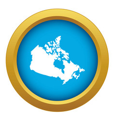 canada map icon blue isolated vector image