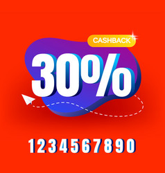 cashback banner design with 30 cashback offer vector image
