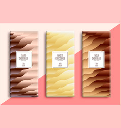 chocolate bar packaging set vector image