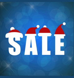 Christmas sale with blue background vector