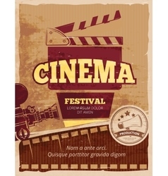 Cinema movie festival vintage poster vector