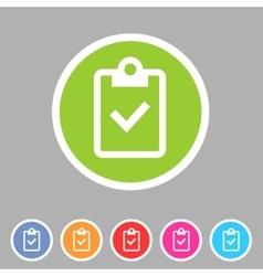 Clipboard checklisticon flat web sign symbol logo vector image