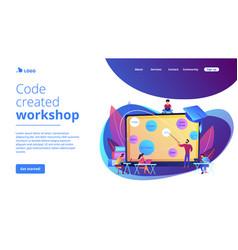 Coding workshop concept landing page vector