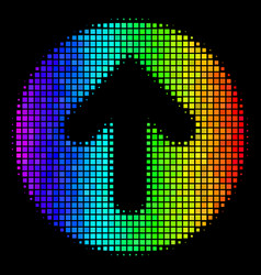 Colored dotted rounded arrow icon vector
