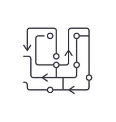 computer algorithms line icon concept computer vector image
