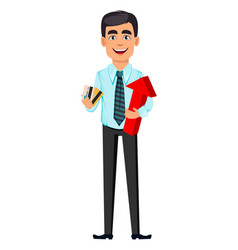 concept handsome confident business man vector image