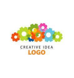 creative idea logo design template with colorful vector image