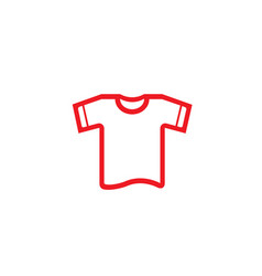 creative red tshirt logo vector image