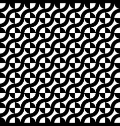 curve line circle seamless pattern vector image