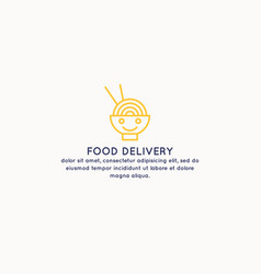 delivery of food home the sing for advertisement vector image