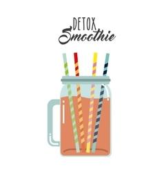 Detox icon Smoothie and Juice design vector
