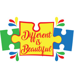 Different is beautiful on white background vector