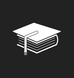 Education and book flat icon on black background vector