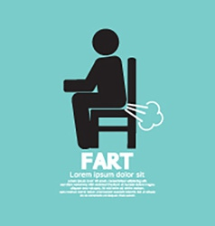 Farting Man On A Chair Black Symbol vector