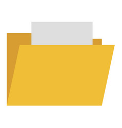 File folder isolated icon vector
