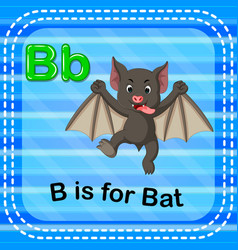 Flashcard letter b is for bat vector