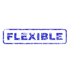Flexible rubber stamp vector