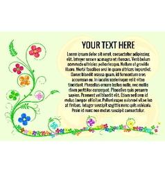 flower background for celebration vector image