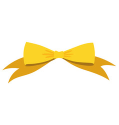 Gold bow cartoon yellow luxury design vector