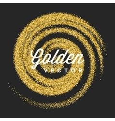 Gold Glitter Sparkles Bright Confetti vector
