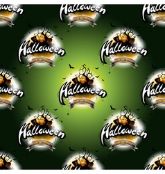 Happy Halloween seamless pattern with moon vector