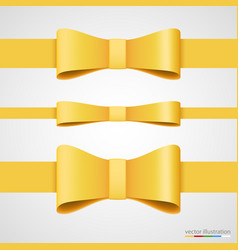 Holiday golden ribbon and bow vector