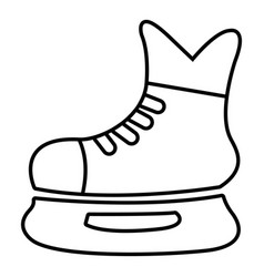 ice hockey skate icon outline style vector image