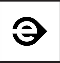 initials letter e logo circle template vector image