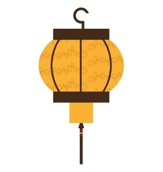 japanese lamp isolated icon design vector image