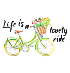 life is a lovely ride vector image