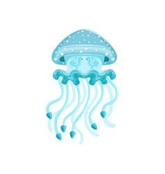 Light blue jellyfish phyllorhiza punctata species vector