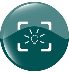Light lamp sign icon Idea symbol Light is on vector image