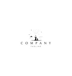logo on which an abstract silhouette image vector image