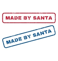 Made by santa rubber stamps vector