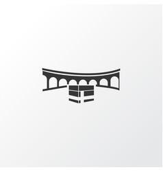 Mecca icon symbol premium quality isolated kaaba vector